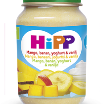 HiPP Mango, Banan, Yoghurt & Vanilj 160g Dagsmeja