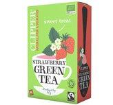 Strawberry Green Tea 20x Clipper